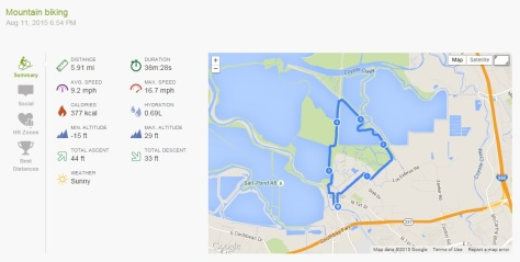2015.08.11 Endomondo Data